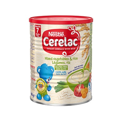 Nestlé CERELAC® Mixed Vegetables & Rice with Milk 400g